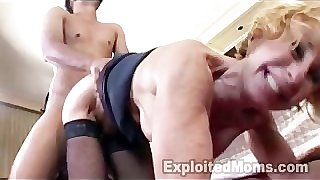 Mature School Teacher trains Young Black Guy in Bed