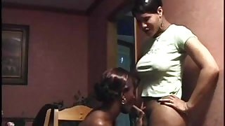 2 black trannies have oral sex
