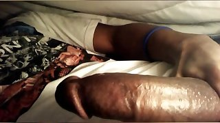 Young & Hung Black Boy Jacking Off