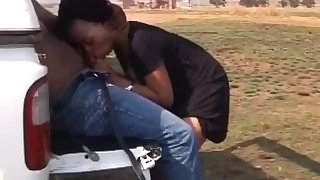 Sexy black teen fucked in public